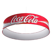 Round Halo - Tension Fabric Hanging Signs for Trade Show Displays